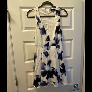 White and blue lulus dress